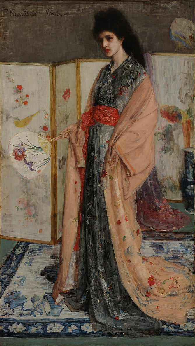 来自瓷土的公主 作者 James Abbott McNeill Whistler